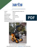 Certificado de Mantenimiento e Informe Minicargador JCB