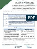formulario PAR-Q -DEPORTE UNIVERSITARIO 2021-1