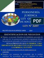 PERSONERIA JURIDICA-LEY-GENERAL-DE-SOCIEDADES-26887-ppt