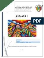 CUADERNO DE TRABAJO DE MATERIA AYMARA I 2021