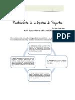 Planeamiento de  la gestion de proyectos