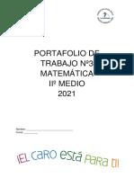 Portafolio 3 Matematica Iiºmedio