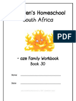 aze Family Workbook, Donnette E Davis, St Aiden's Homeschool, South Africa