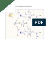 Esquematico para etapa sensora del seguidor de linea