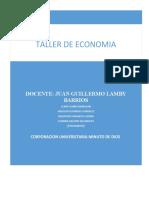 Taller #1 Fundamentos de Economía