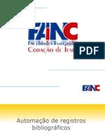 GRAD FI 001 Automacao reg. bibliograficos