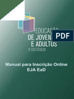 Manual para Inscrições EJA Online 0111