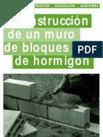 Alba%C3%B1ileria Construccion de Un Muro de Bloques de Hormigon