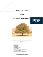 Hausa names for plants and trees Roger Blench