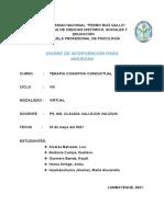 Diseño de Intervención Ansiedad- Alvarez, Barboza, Guerrero, Horna y Humanchumo