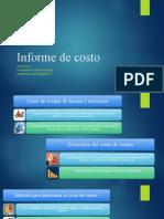 Informe de costo