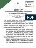 Decreto 575 Del 28 de Mayo de 2021