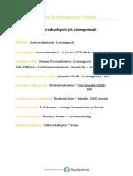 Internes Rechnungswesen Formeln