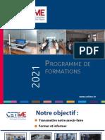Programme de Formation 2021 Du CETIME Version Juin 2021- TXT-édition TBsTN.28.05.2021-PDF-X (6356Ko)