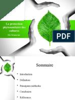 La protection phytosanitaire des cultures