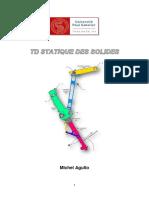 PROBLEMES PLANS. Q1-1 Déterminer, par application du principe fondamental de la statique à l ensemble (2)