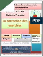 Taalimpress.info_correction Des Exercices de Soutien 6 AP