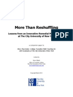 More Than Reshuffling--Lessons from an Innovative Remedial Math Program at The City University of New York