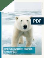 151110 Rapport Les Impacts Du Changement Climatique Sur Les Especes