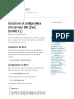 Installation et configuration d'un serveur DNS