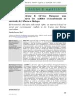 EA e DH - Abordagem Conflitos Socioambientais No Currículo de Ciências e Biologia