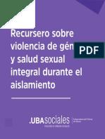 Recursero Facultad Sociales UBA violencia género y salud sexual integral