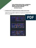 INFORME TECNICO - ESTRUCTURACION EDIFICIO 5 PISOS