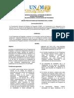 Convocatoria 2021-2 Publicacion Marzo