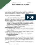 Cours de Gestion Des Entreprises 2LMD SFC Section B 2019