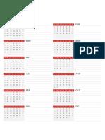 Calendario semanal 2021