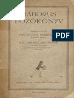 Özv. Sacher Gusztávné - Háborus főzőkönyv (Bp, 1915)
