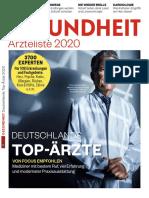 Focus Gesundheit - Ärzteliste 2020