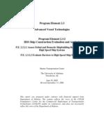 Advanced Vessel Technologies Program