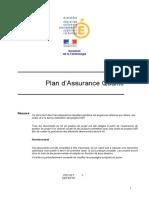 Plan d'Assurance Qualité