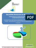 Resultats du 2me Sondage (2me Tr) du BRIDES_031711 - Copy