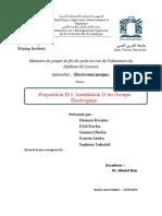 Proposition Et L'Installation D'Un Groupe Électrogène.
