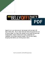 Belly Off Diet