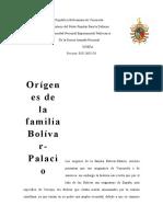Origenes de la familia Bolivar-Palacio