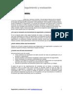 Seguimiento y evaluacion de Proyectos