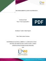 Tarea 5 - Texto Argumentativo Yenifer Cuellar Fajardo