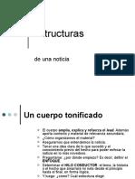 Estructuras y transiciones de una noticia