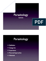 Parasitology Course Synthesis and Summary