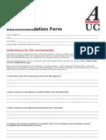 AUC_Recommendation_Form