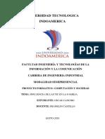 Tarea 1 ensayo del impacto de las TIC en la pandemia
