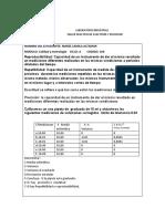 TALLER PRACTICO DE EXACTITUD Y PRECISION