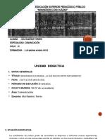 PLANIFICACIÓN CURRICULAR - UNIDAD DIDACTICA