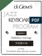 Jazz Keyboard 1 Lesson 1-Dick Grove
