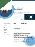 Andrea Salomé Granja Núñez - Curriculum Vitae