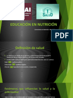 EDUCACIÓN EN NUTRICIÓN-  SALUD, CIUDADANÍA. EDUCACION NUTRICIONAL E HISTORIA DE LA NUTRICIÓN