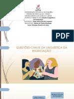 Questões-chave da linguística da enunciação 1